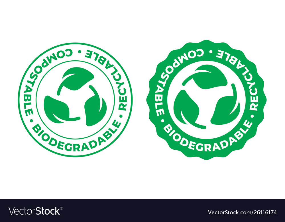 Biodegradable compostable and recyclable icon bio