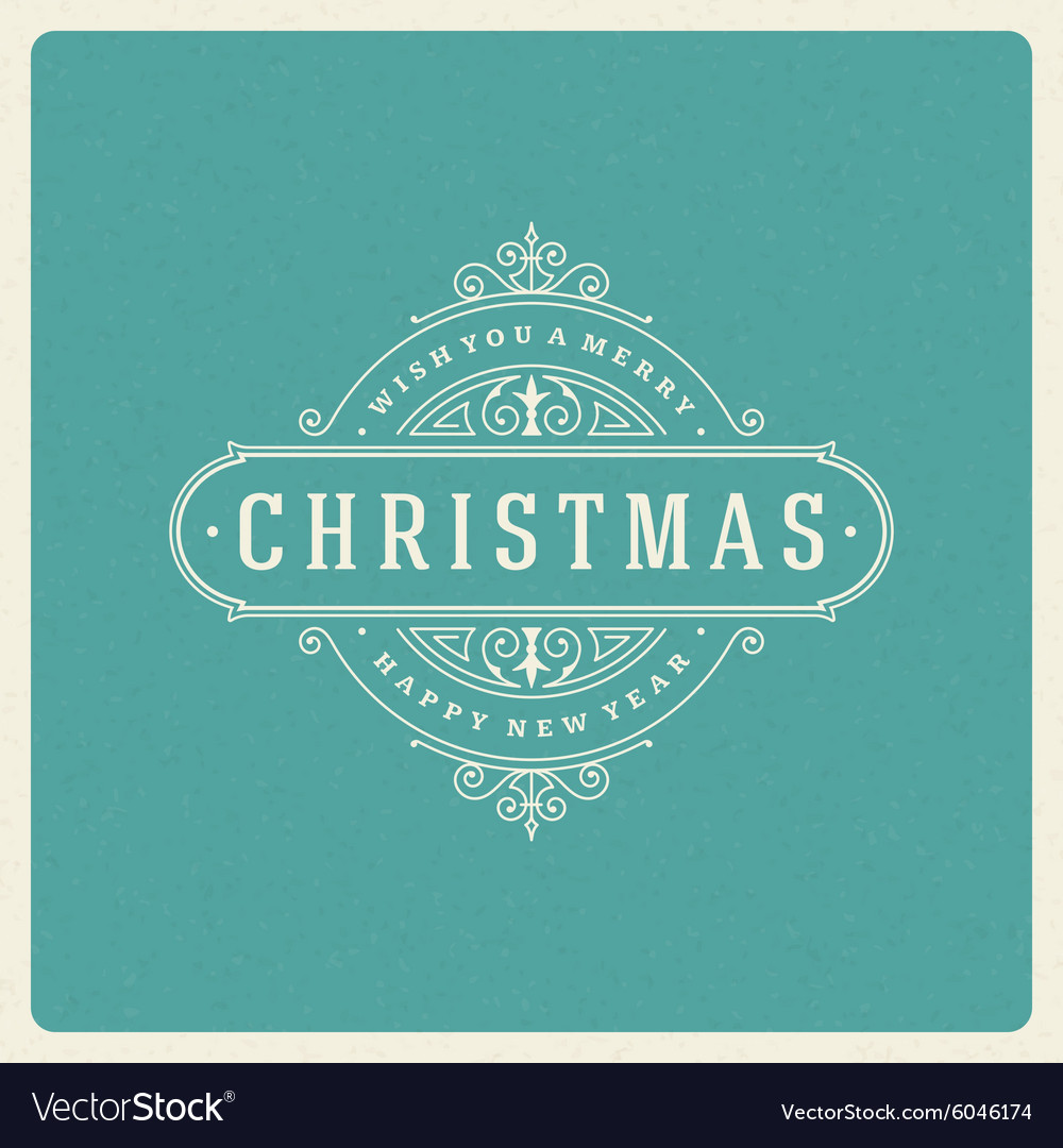 Christmas greeting card flourishes ornament