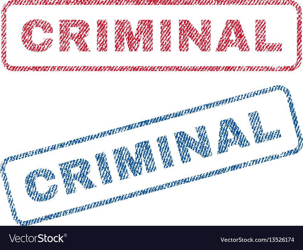 Criminal textile stamps