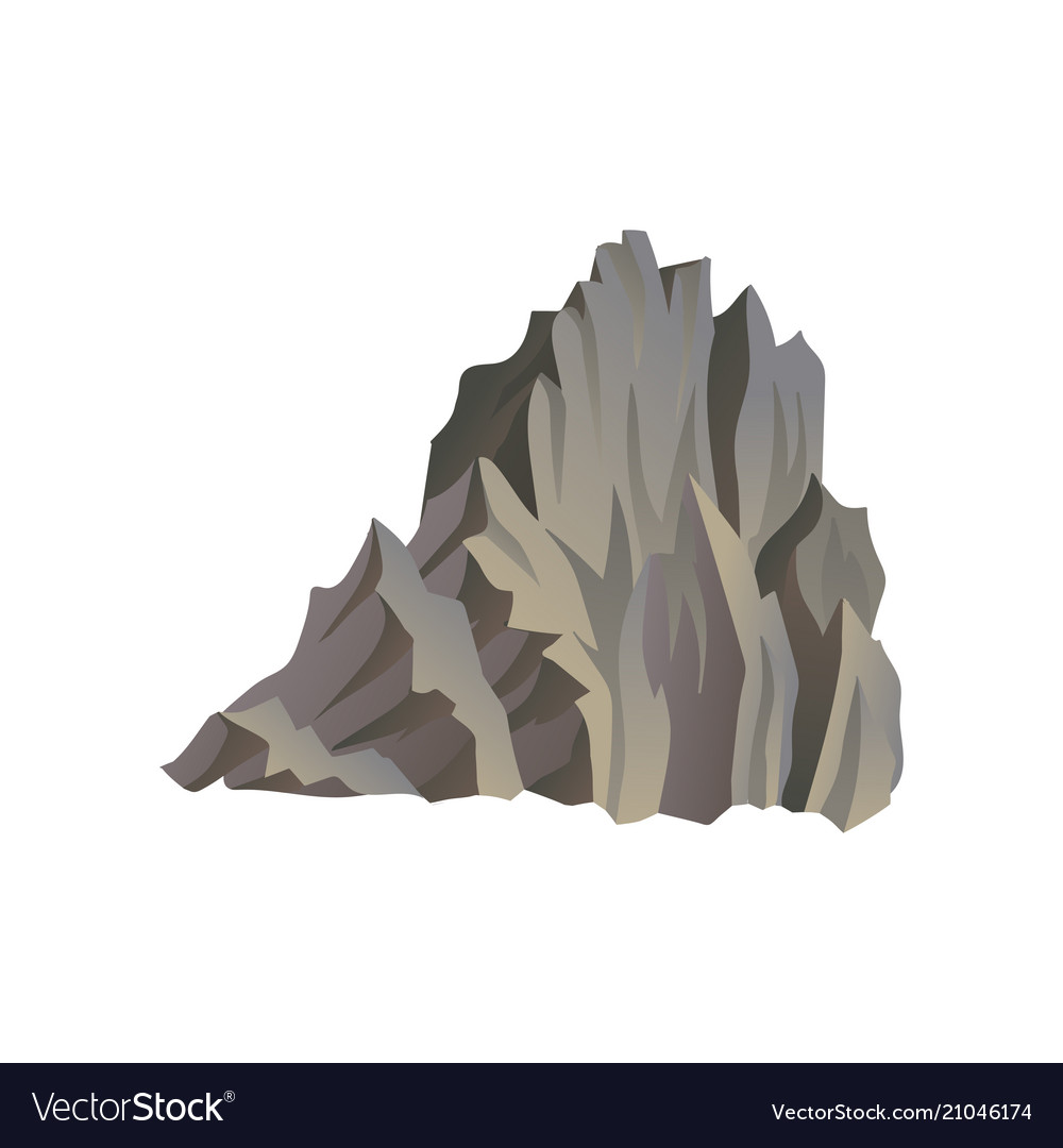 Flat icon of high mountain travel or
