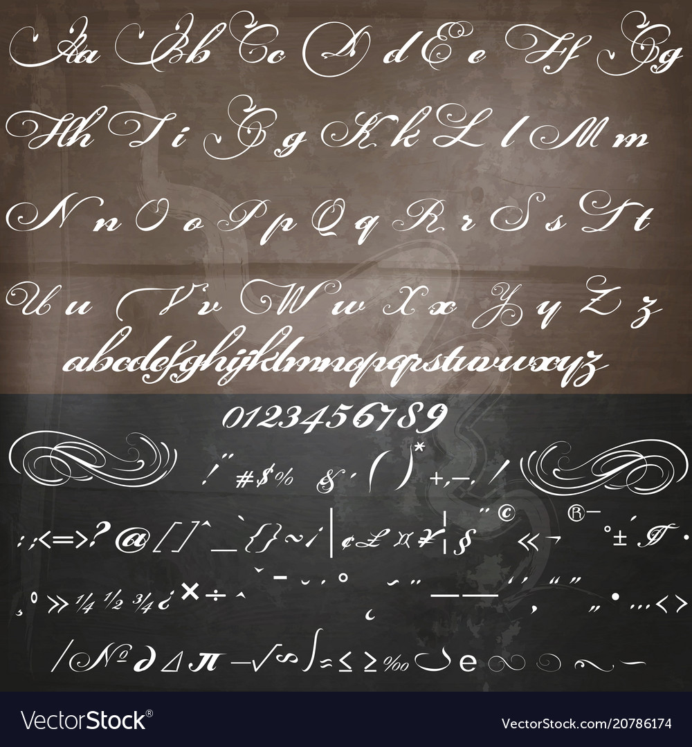 Hand made script font in vintage victorian style