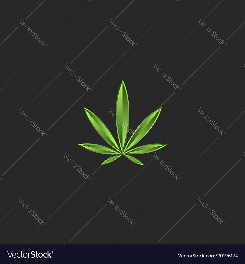 Marijuana leaf logo medical cannabis green