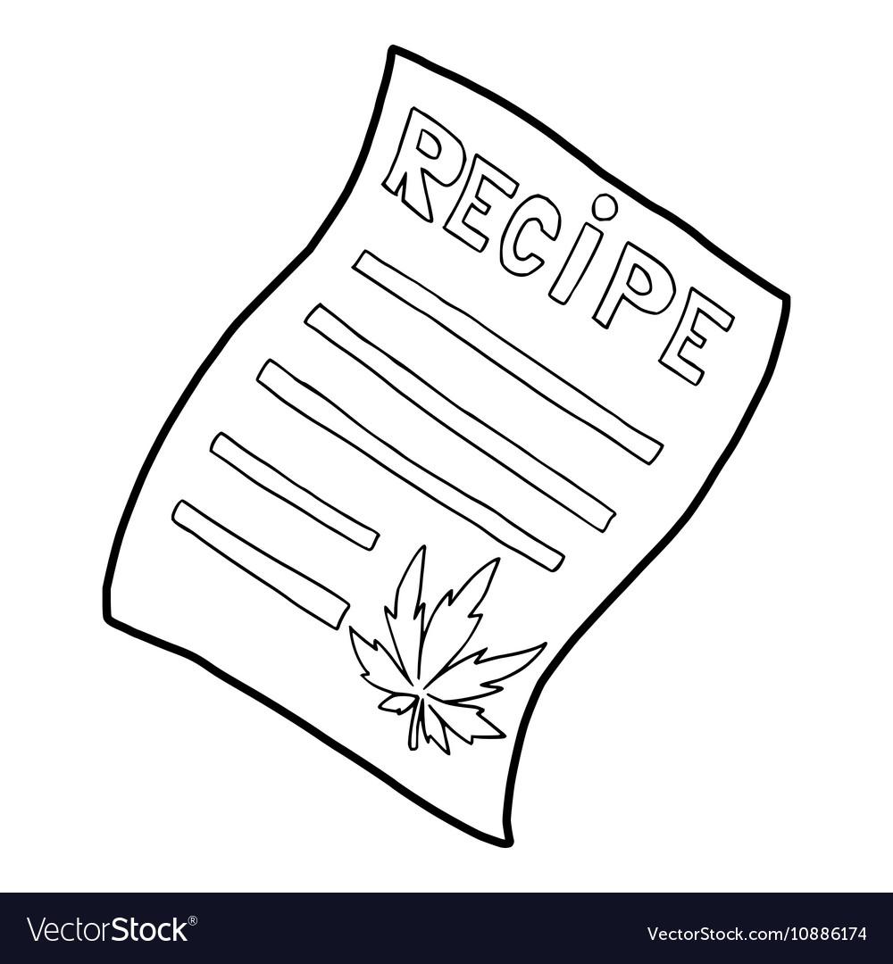 Marijuana recipe icon outline style