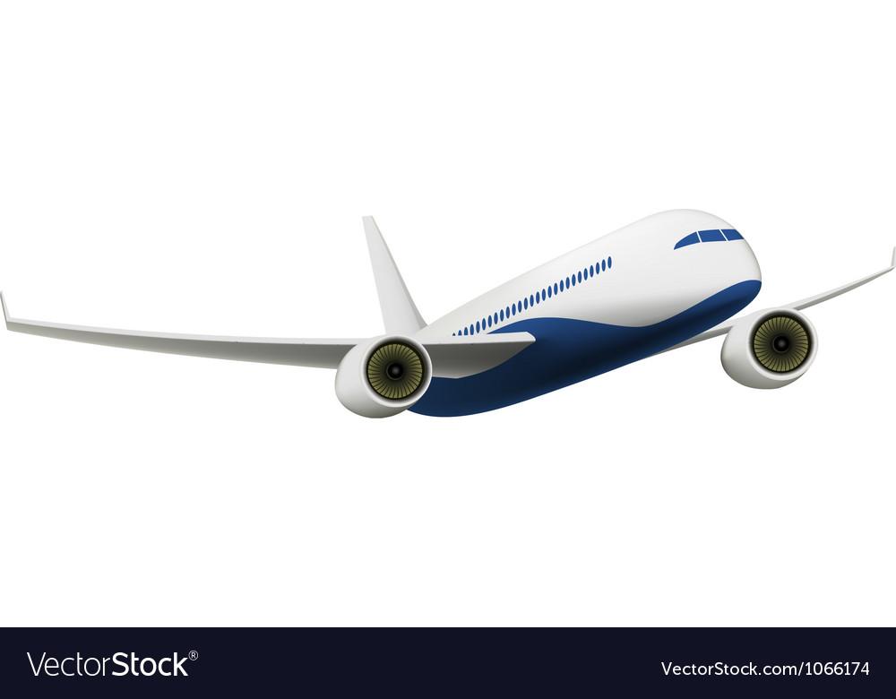 Passenger Airplane vector image