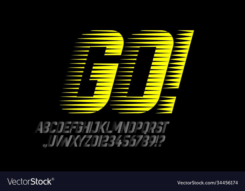 Speed style sport font