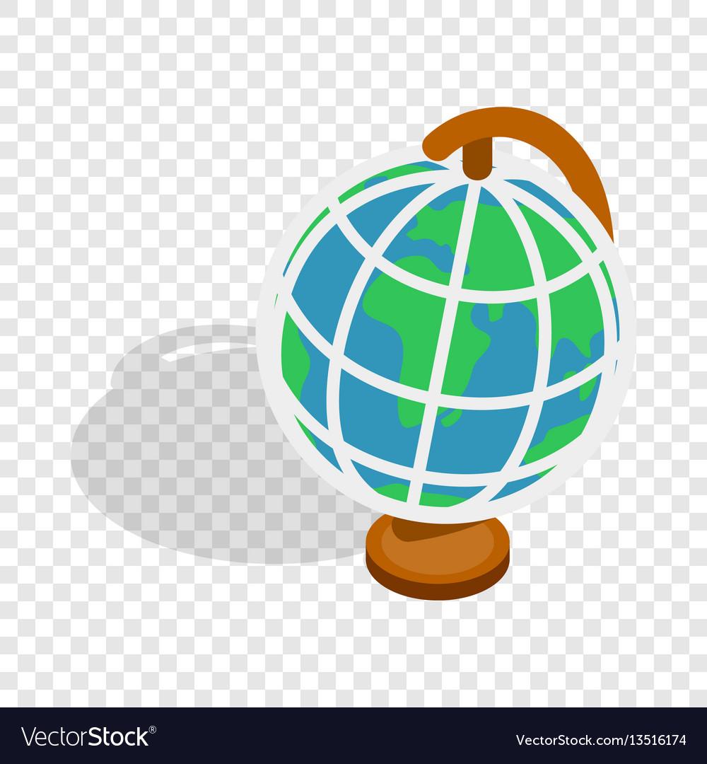 Terrestrial globe isometric icon vector image
