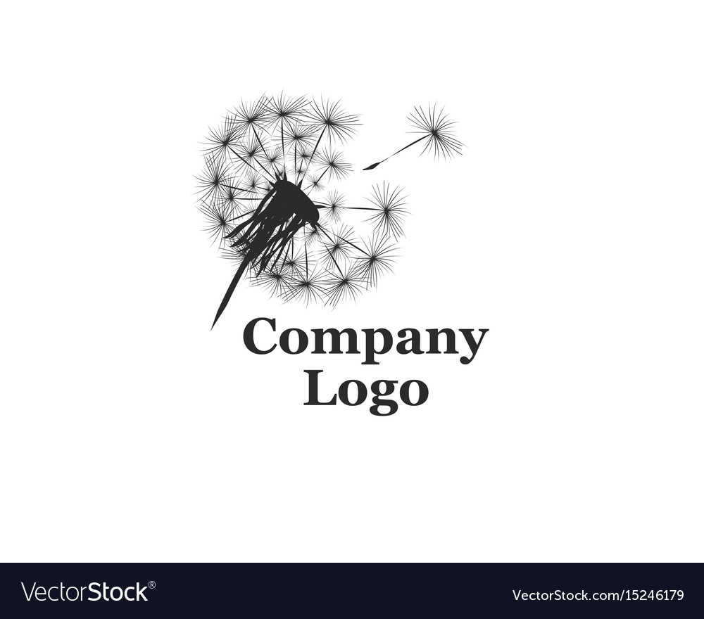 Company logo with dandelion vector image
