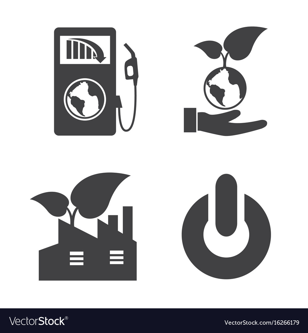 Earth and ecology icons set elements of this