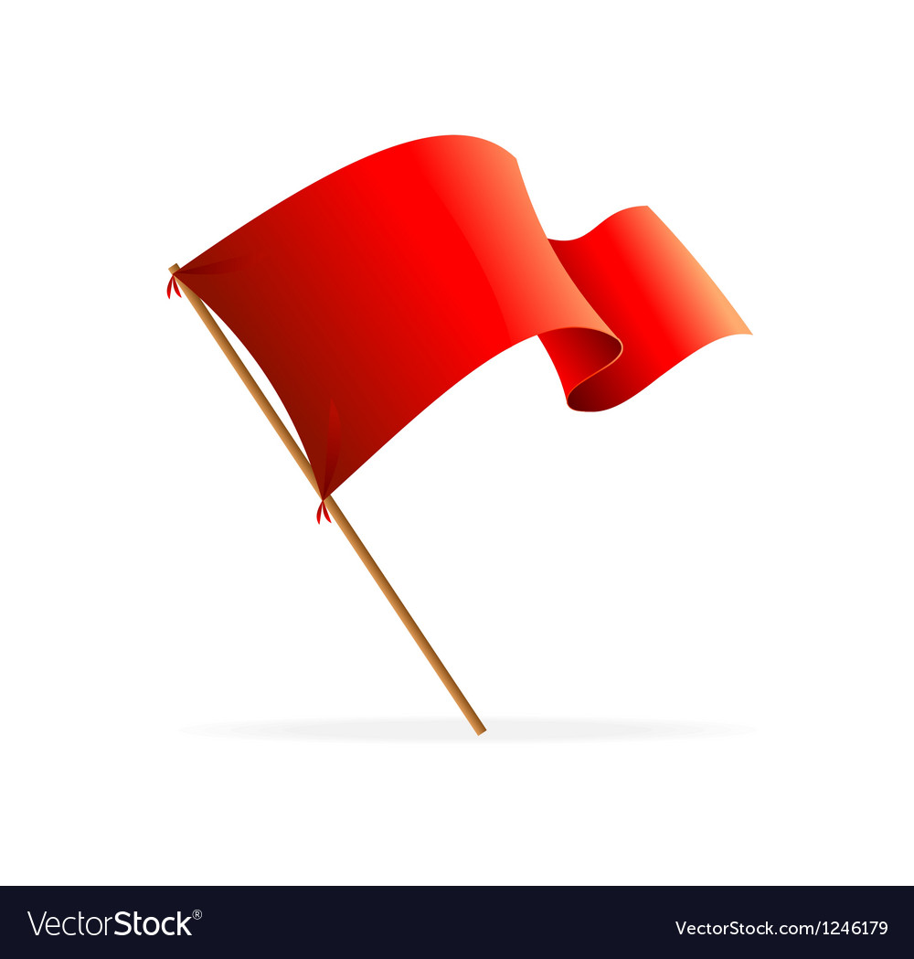 Flag red Icons vector image