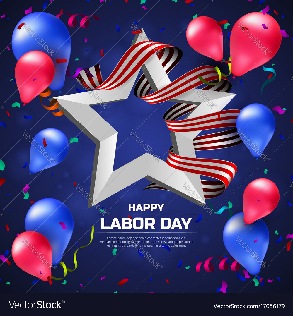 Greeting card or banner to happy labor day with