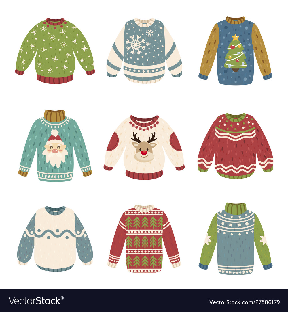 Handmade christmas sweaters color