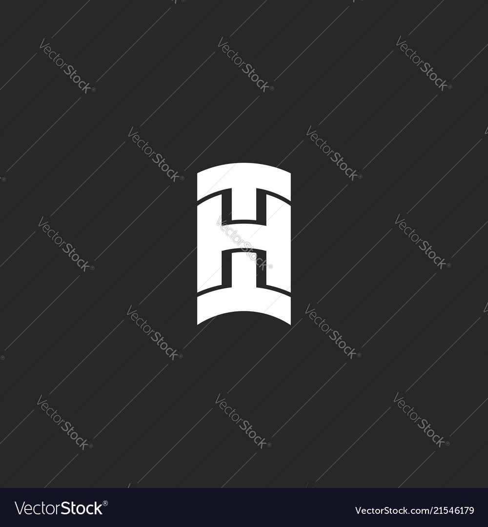 Initials hi bold letters logo monogram identity