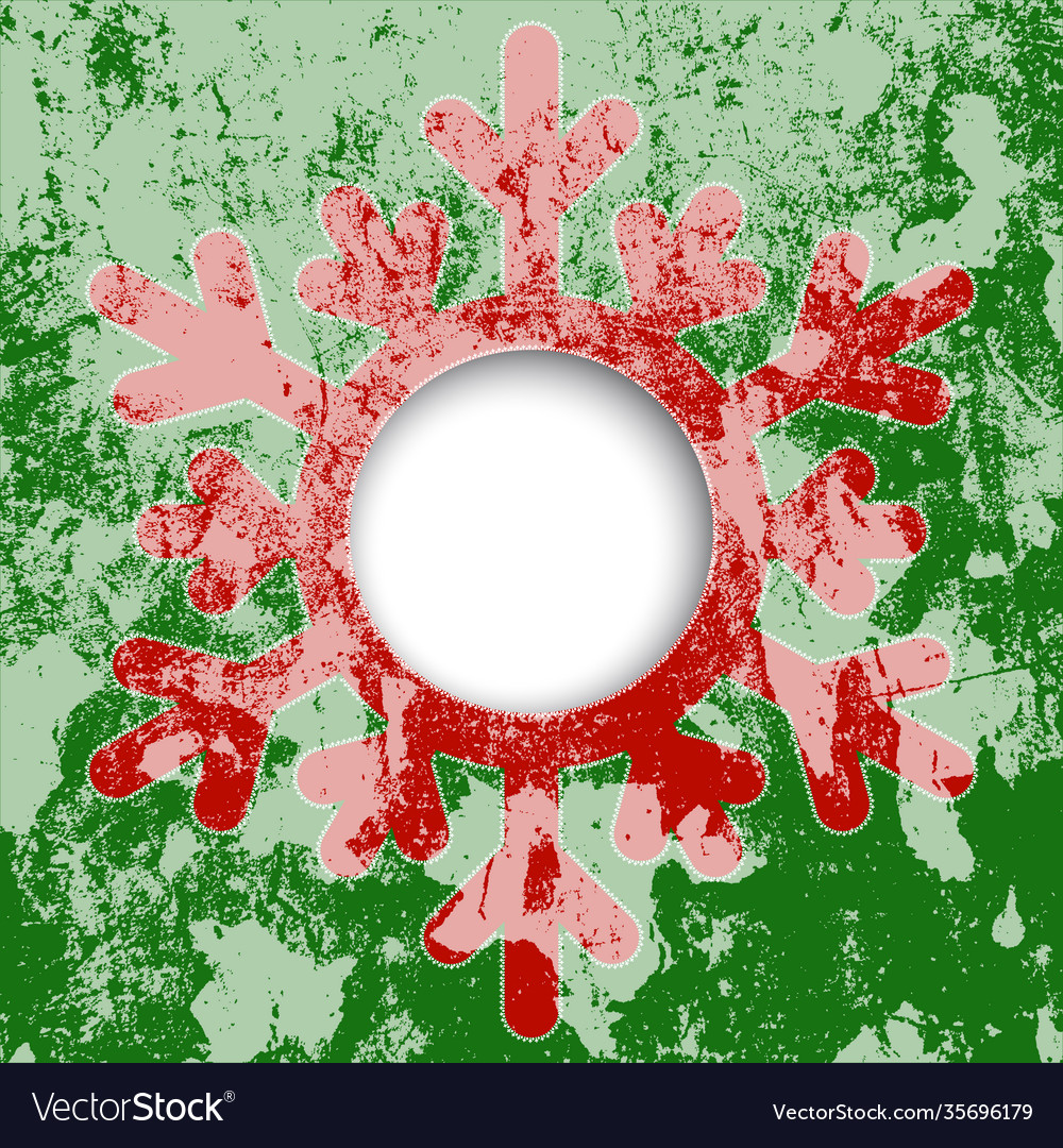 Red snowflake christmas card