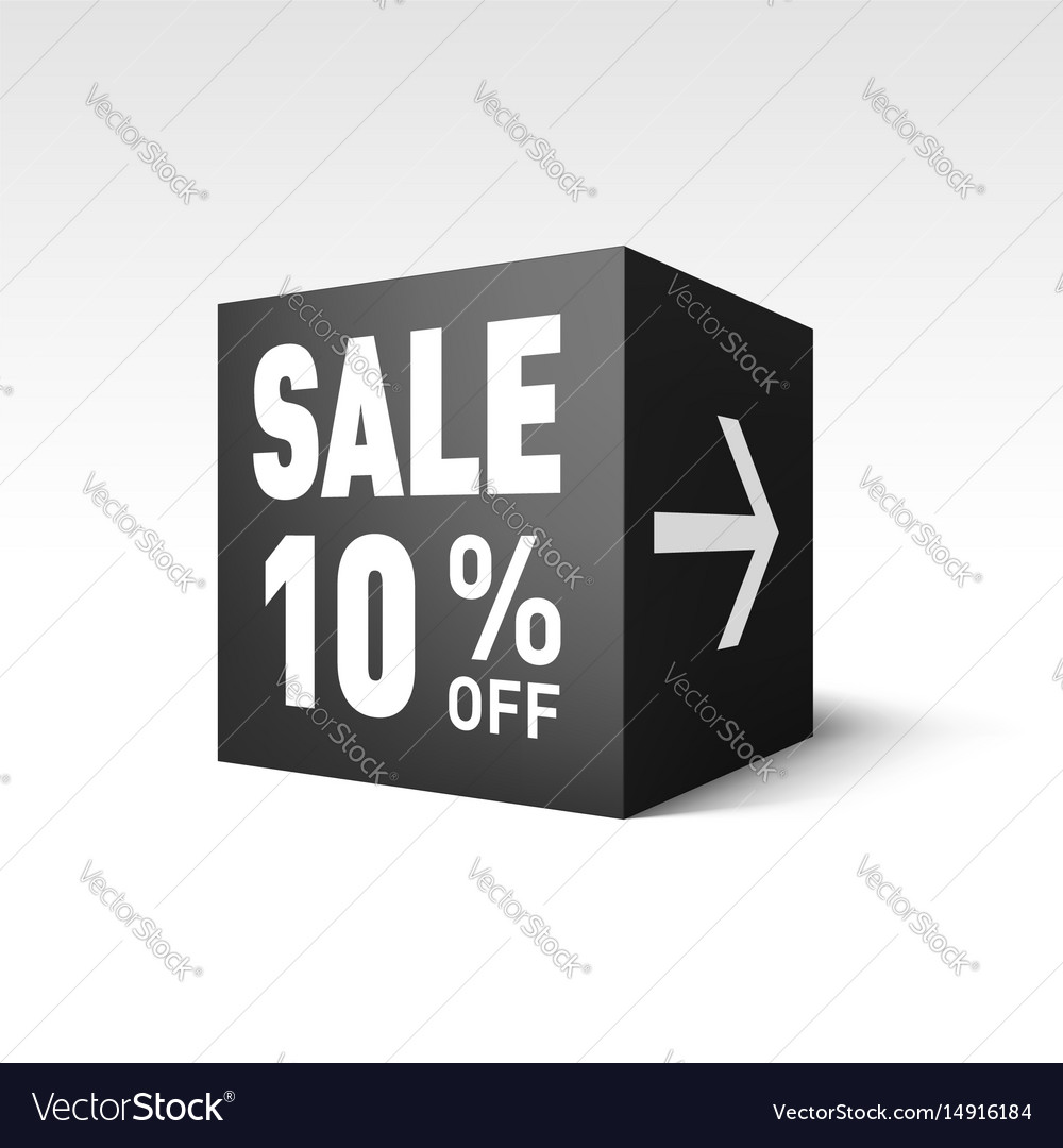 Black cube banner template for holiday sale event
