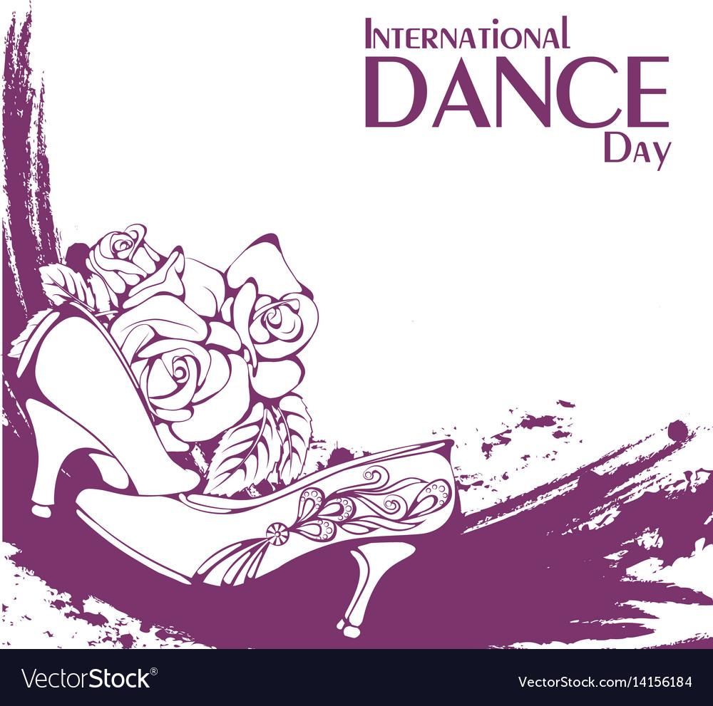 Dance day ballroom standard shoes vector image