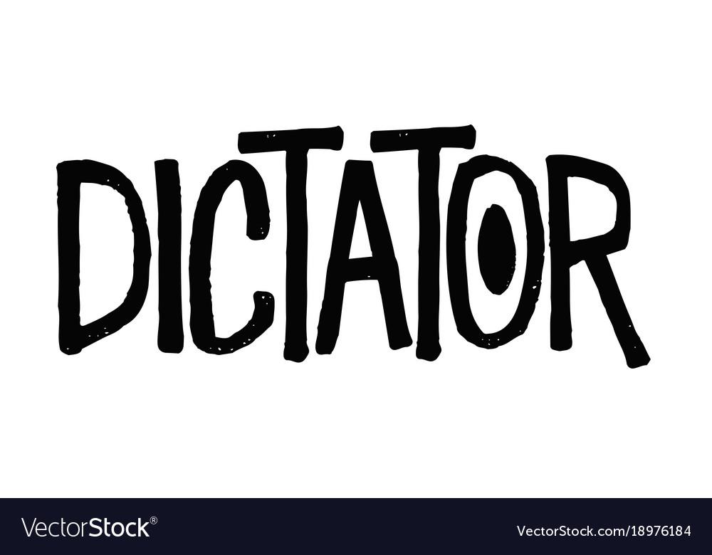Dictator typographic stamp vector image
