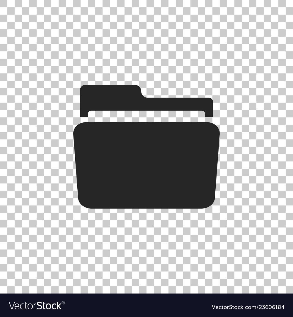 Folder icon isolated on transparent background