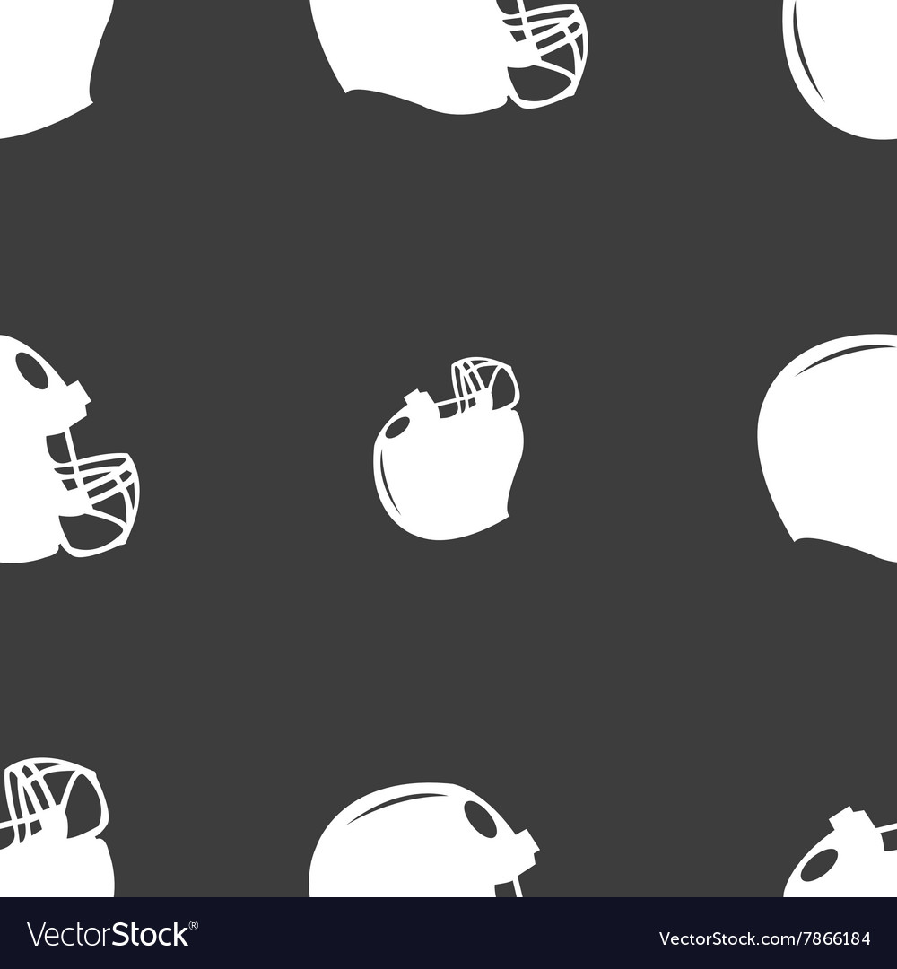 Football helmet icon sign Seamless pattern on a
