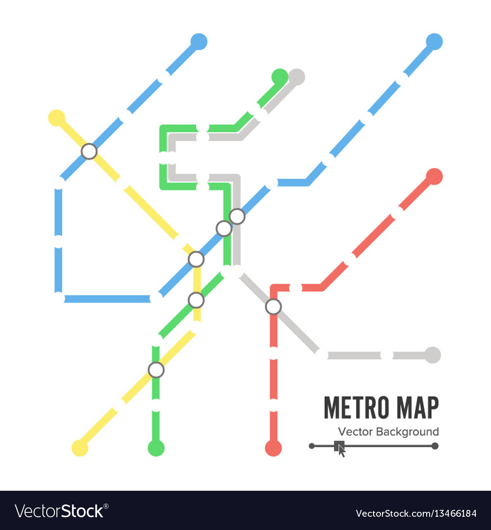 Subway Map Graphic Design.Metro Map Subway Map Design Template