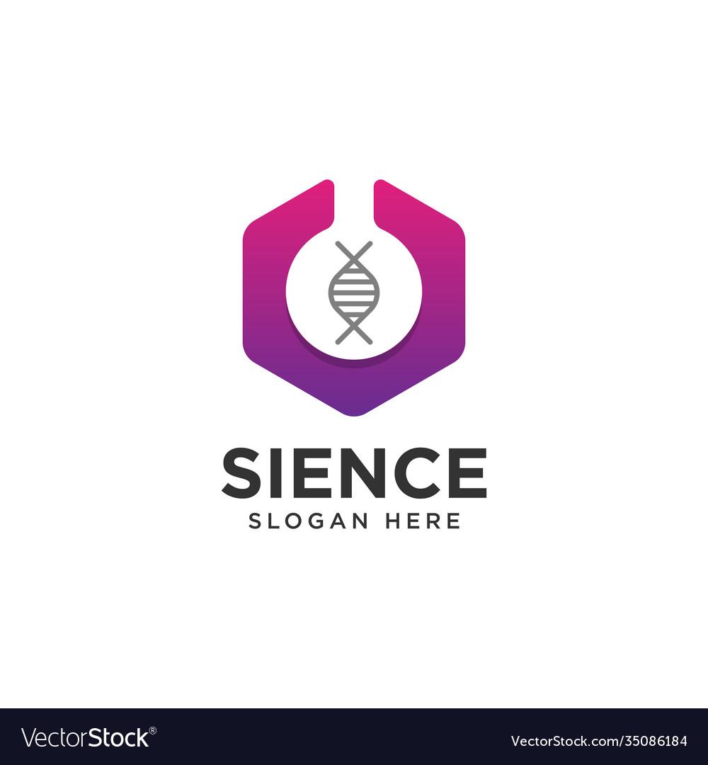 Science lab logo design template