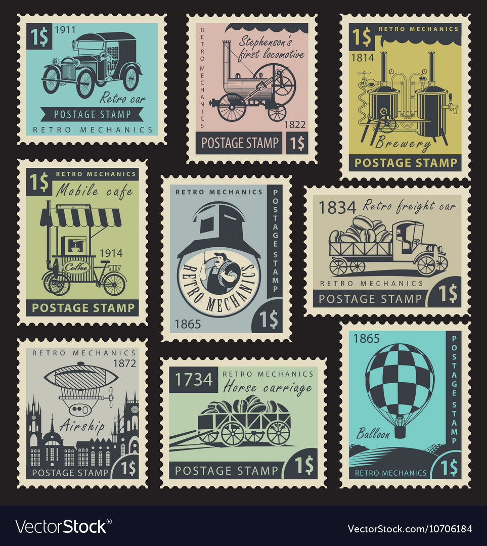 почтовые марки ретро картинки умудрилась набрать лишние