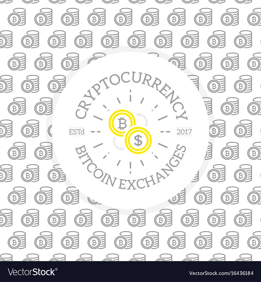 Unique digital money and bitcoin logo on seamless