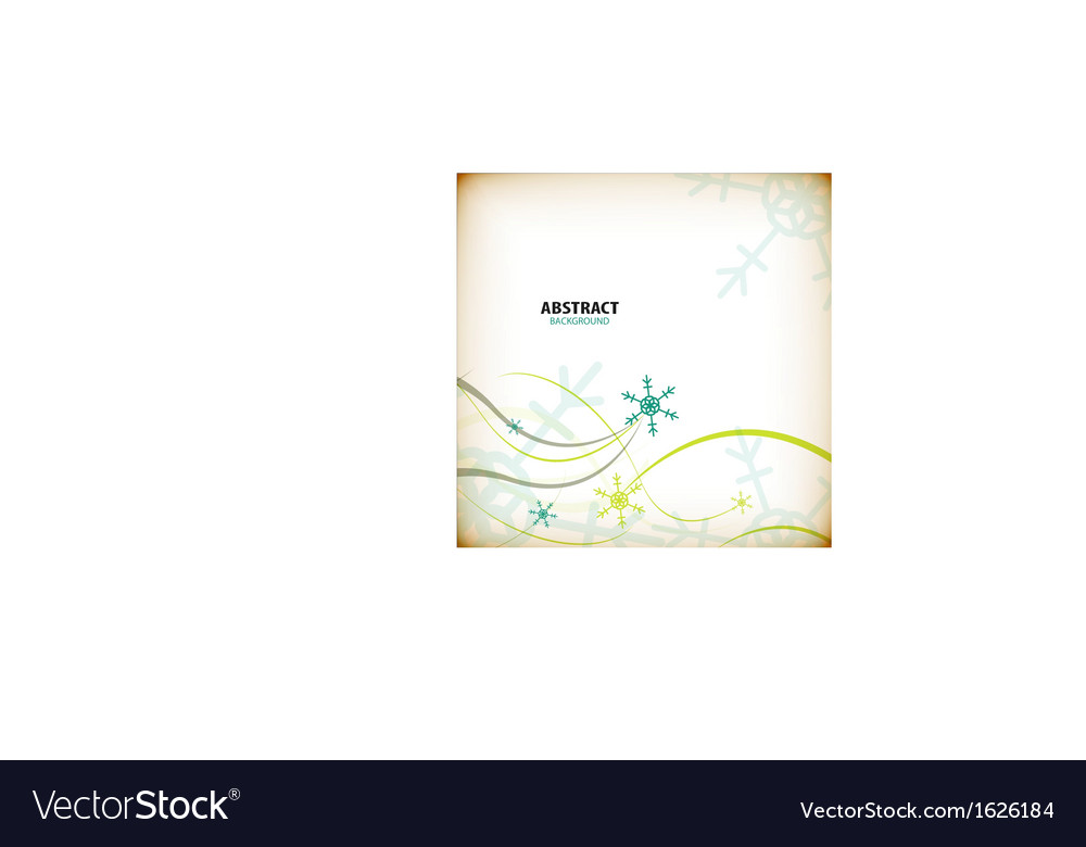 Vintage winter Christmas card vector image