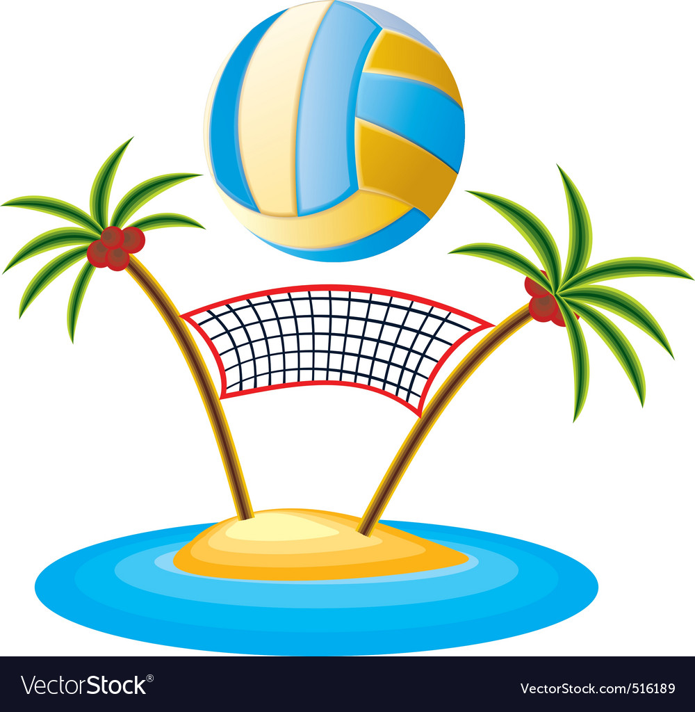beach volleyball royalty free vector image vectorstock
