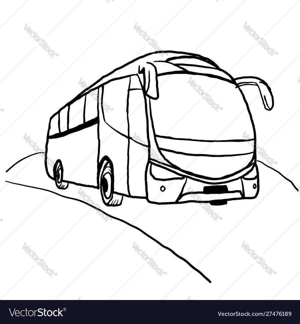 Bus line art drawing