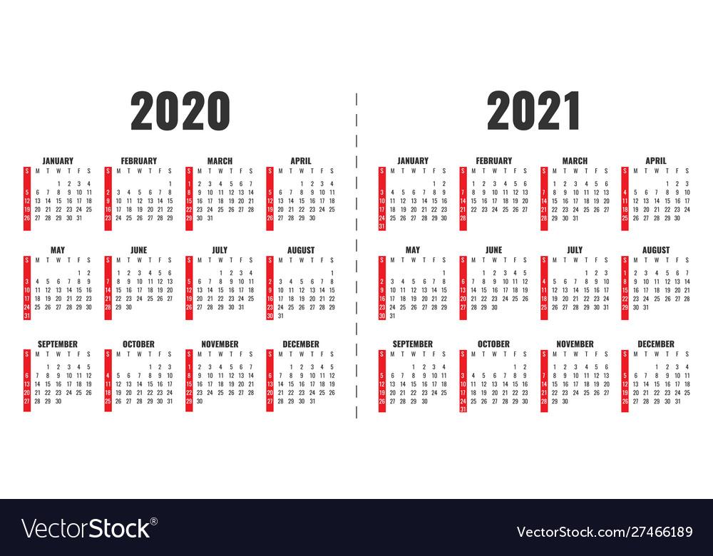 Calendar 2019 2020 year planner office