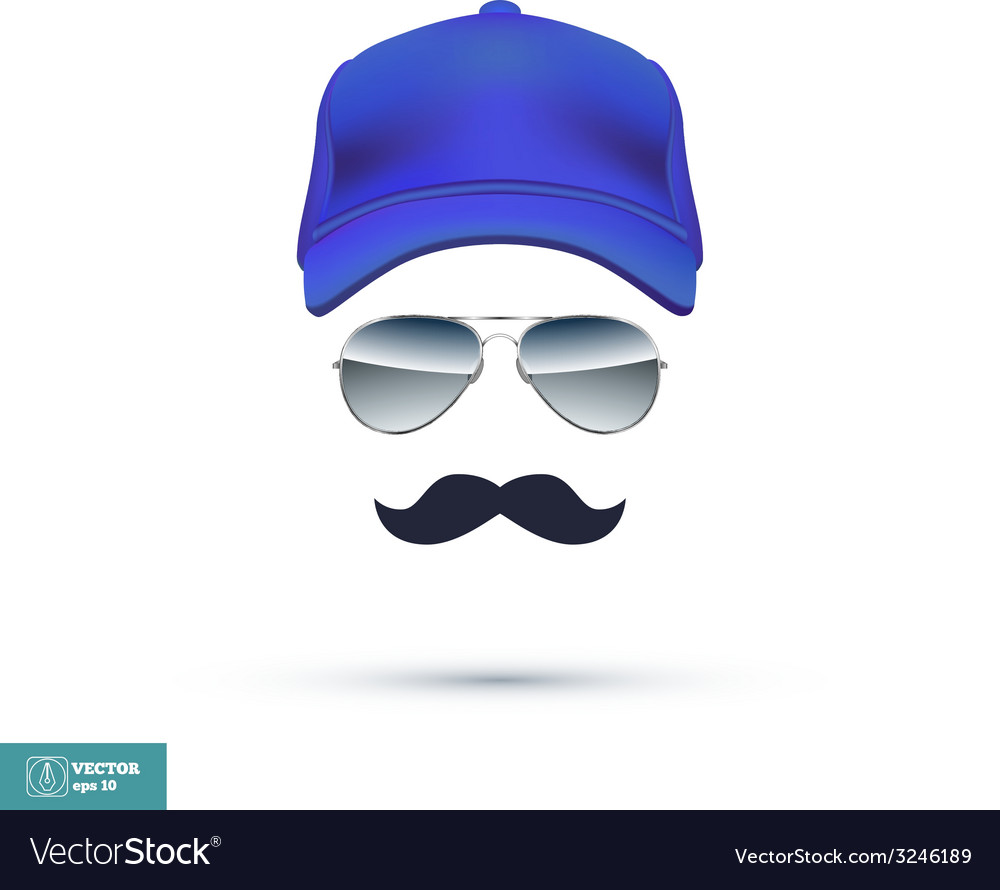 Cap Glasses and Mustache