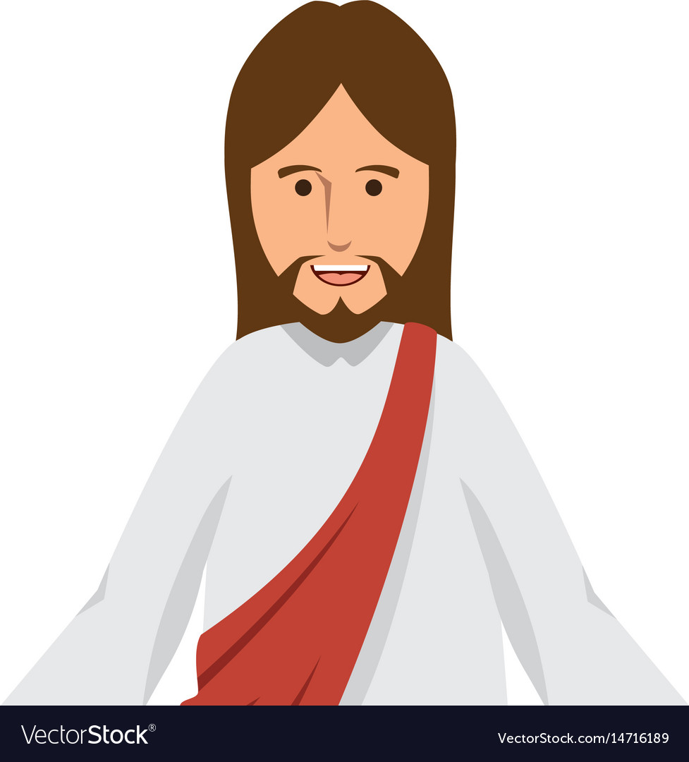 Cartoon Jesus Christ Ico Royalty Free Vector Image