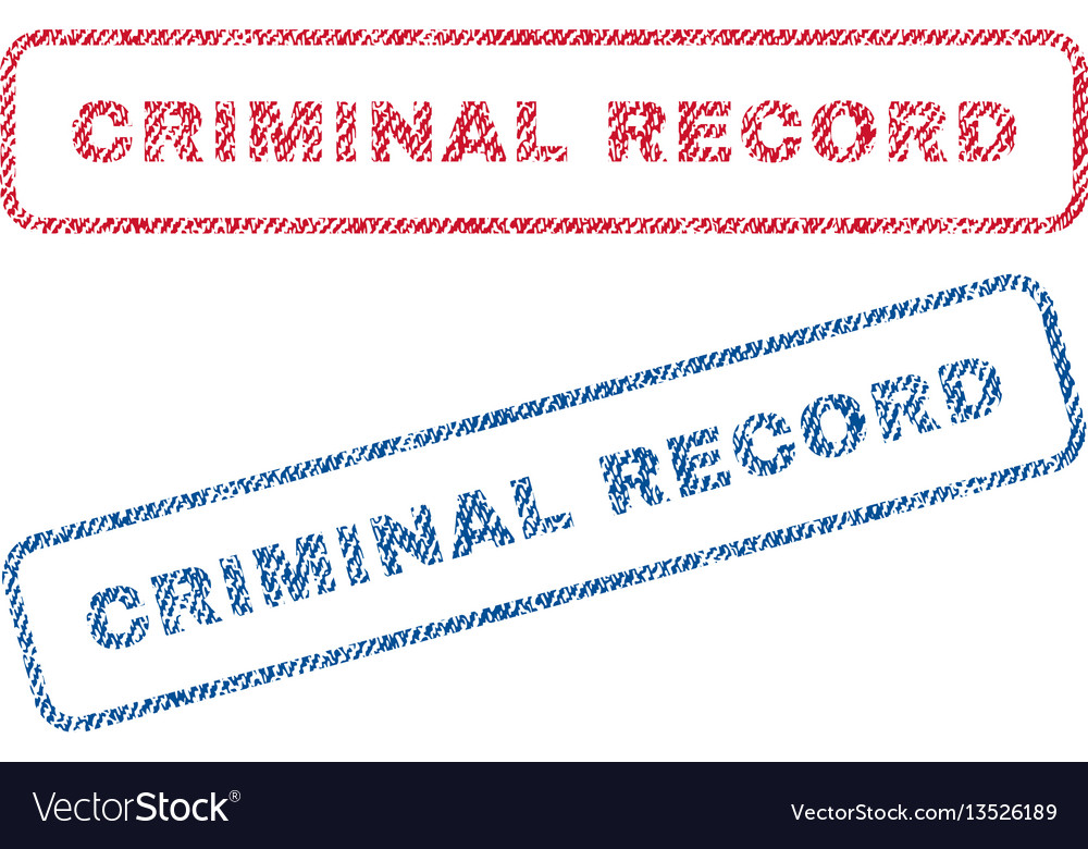 Criminal record textile stamps