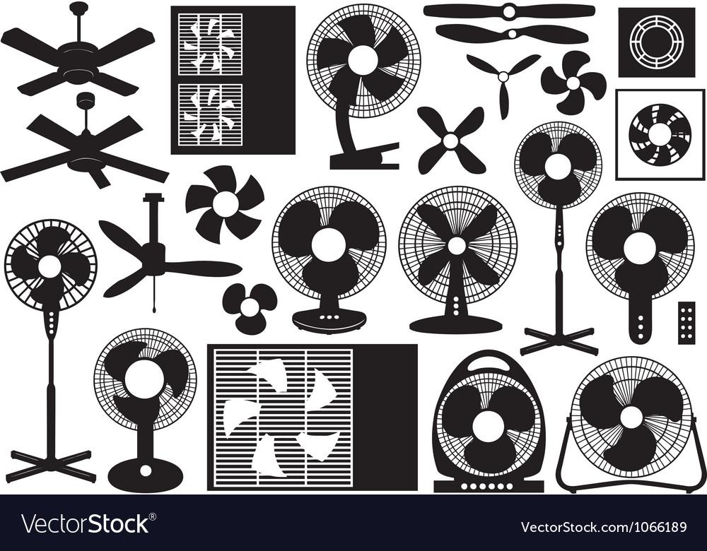 Different Ventilator Set vector image
