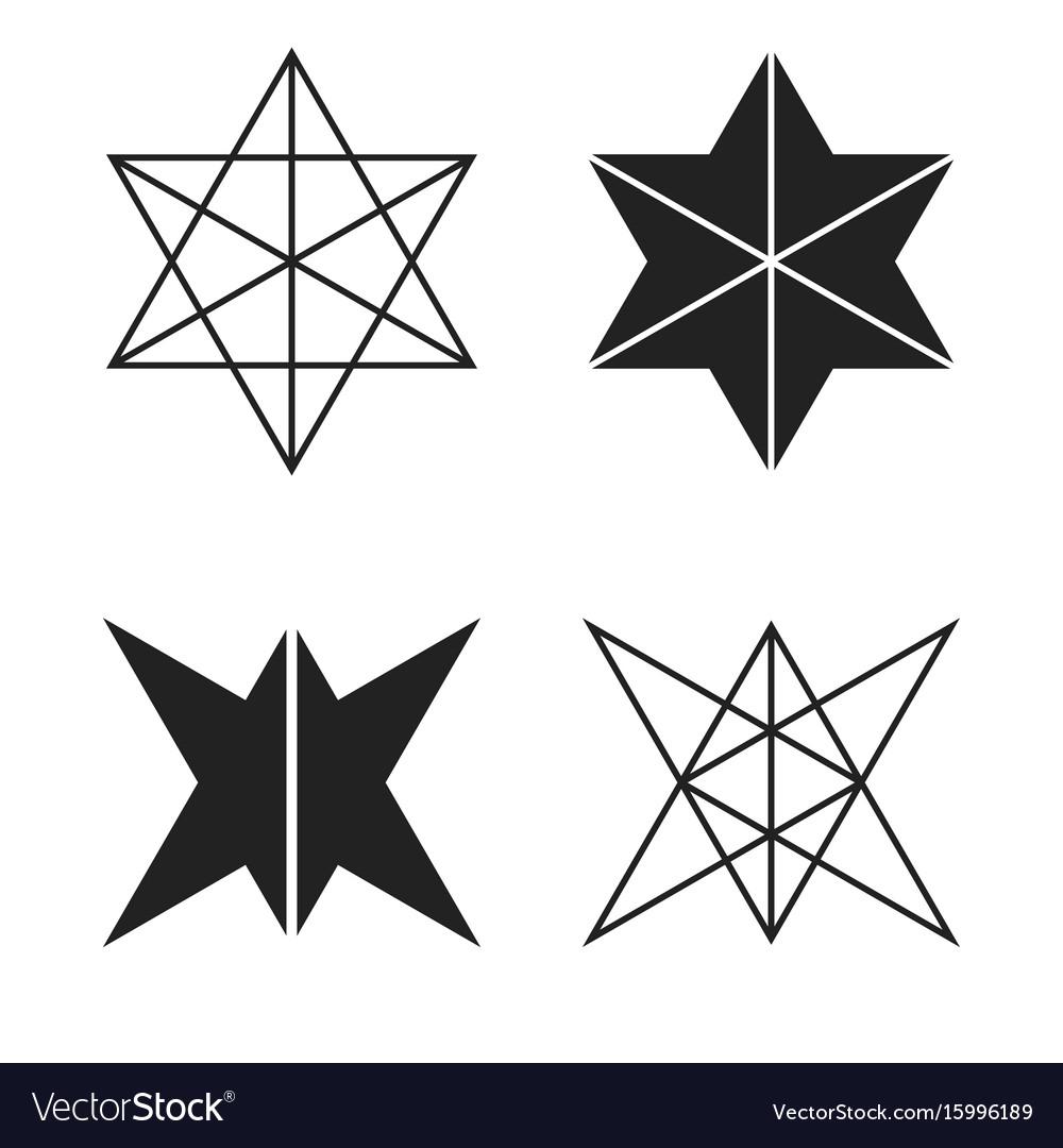 Hexagons stock vector image