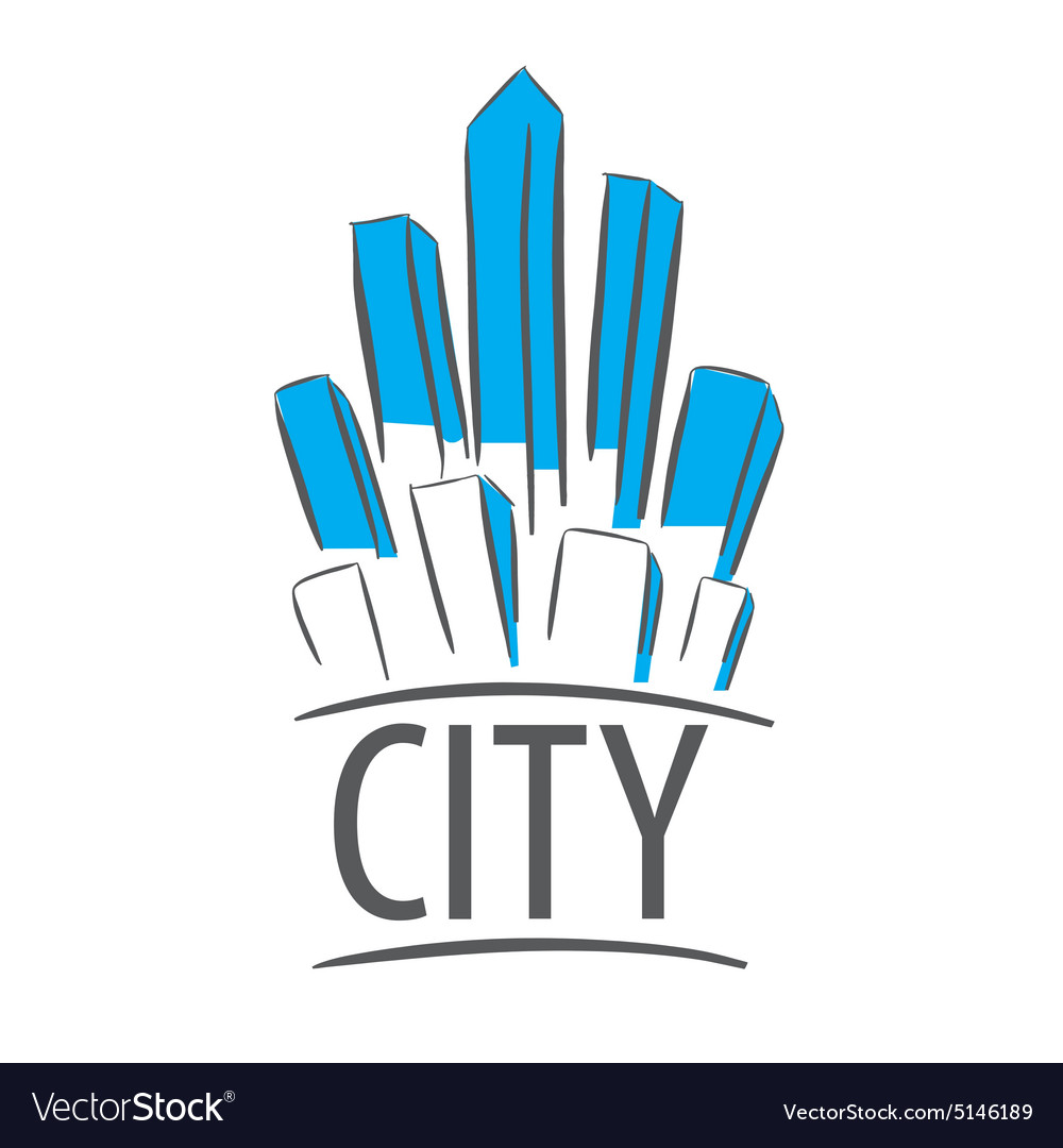 Logo city in the form of crystals
