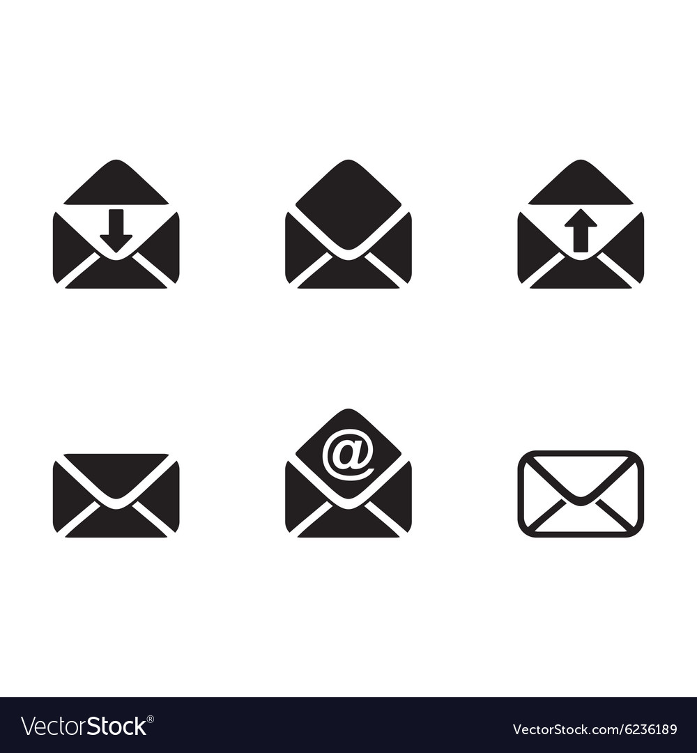 Mail envelope icons vector image