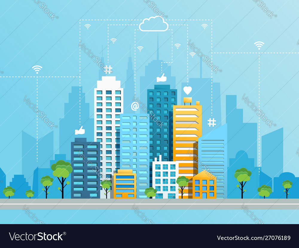 Social networking city concept