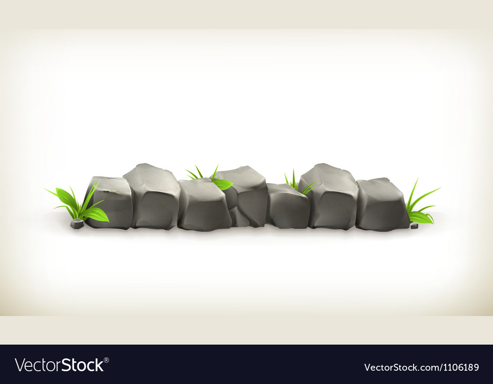 Stones and grass vector image