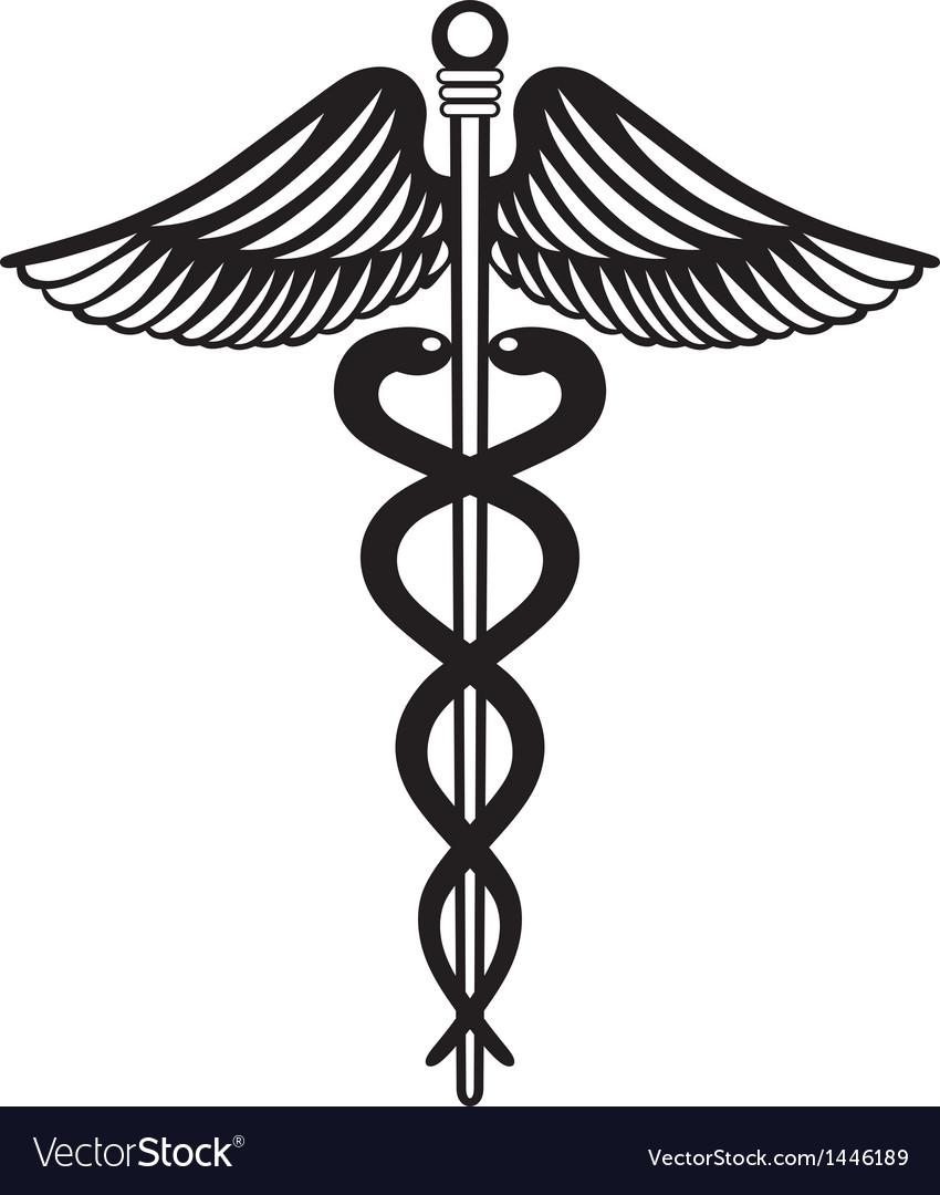 Symbol Medical Caduceus Royalty Free Vector Image