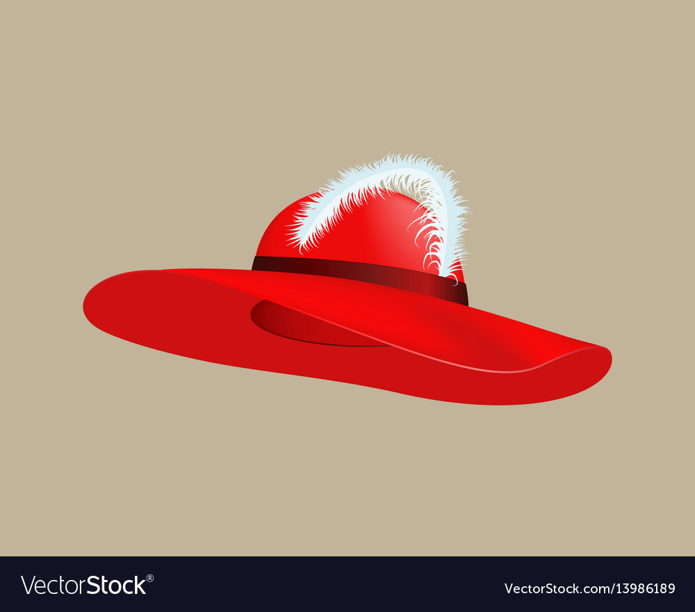 Womans summer red straw hat isolated style