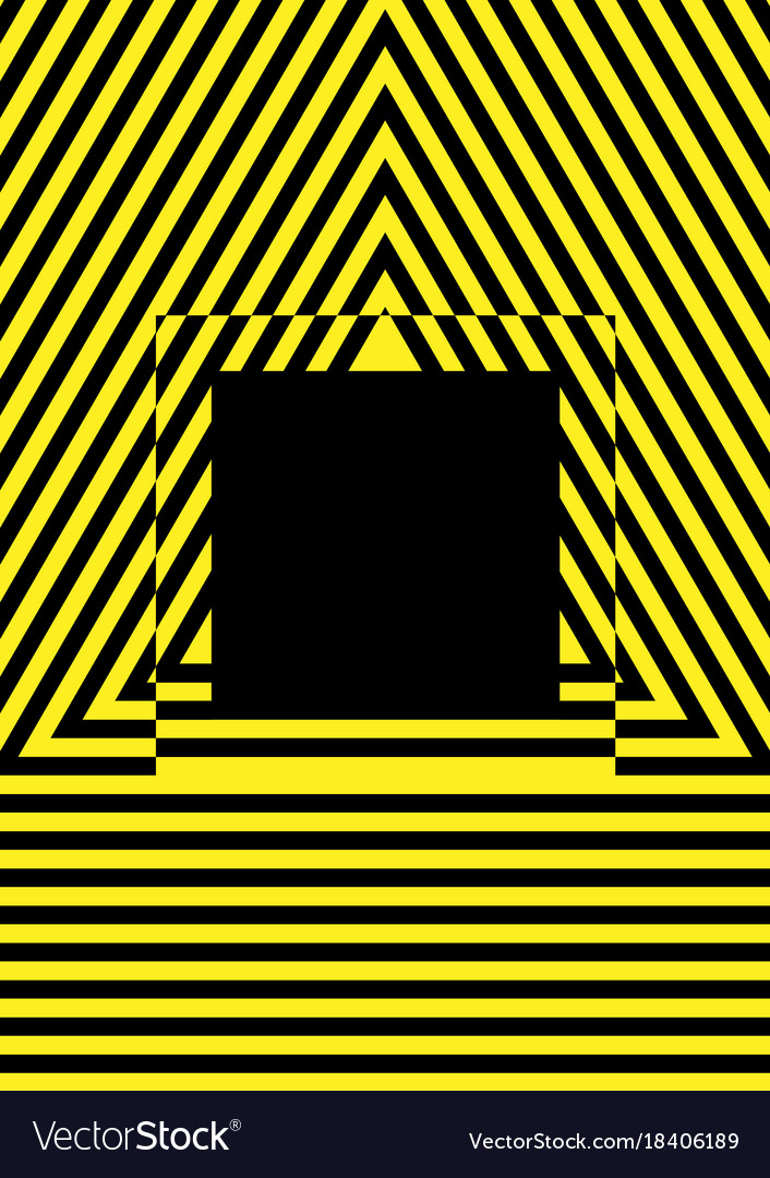 Yellow and black stripes potential danger vector image