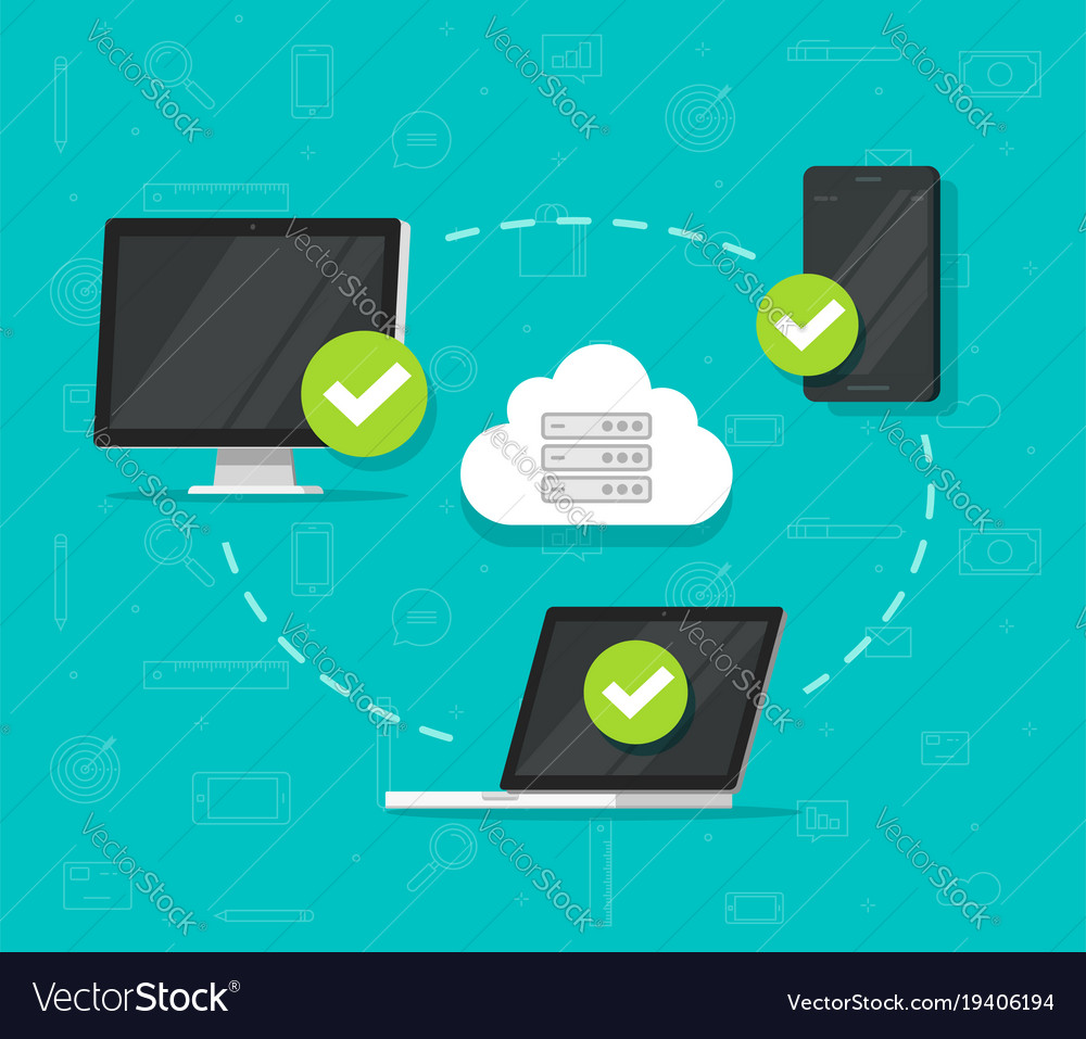 Cloud network connection between devices