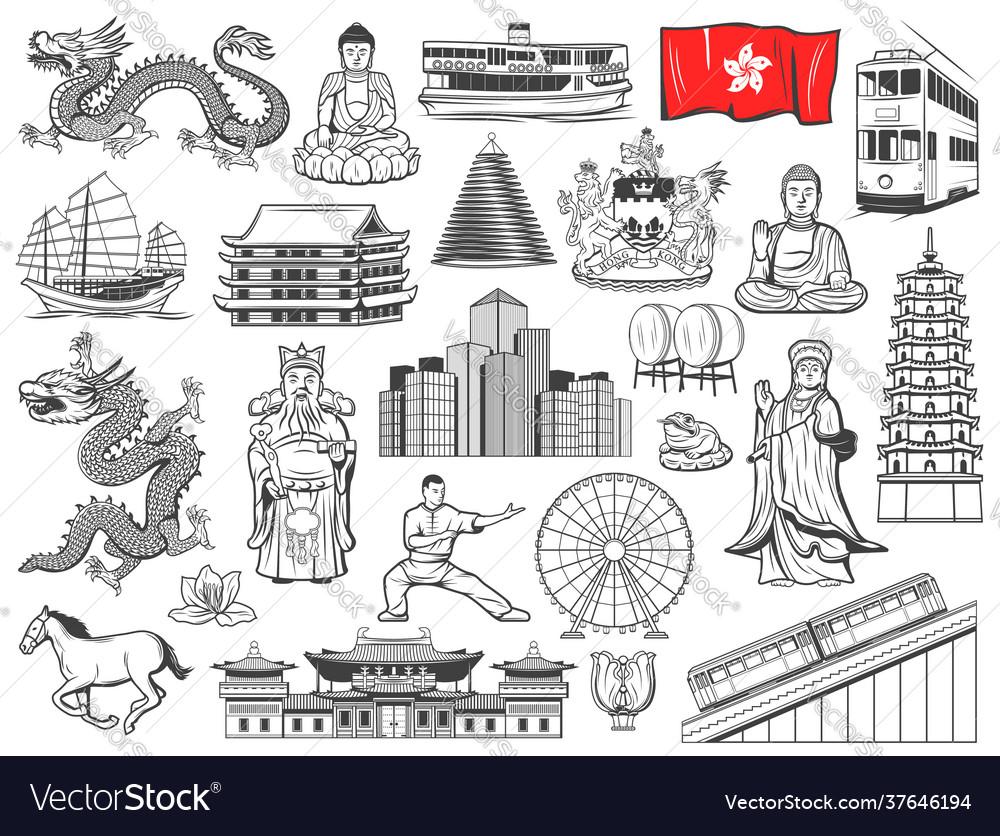 Hong kong religion and culture symbols landmarks