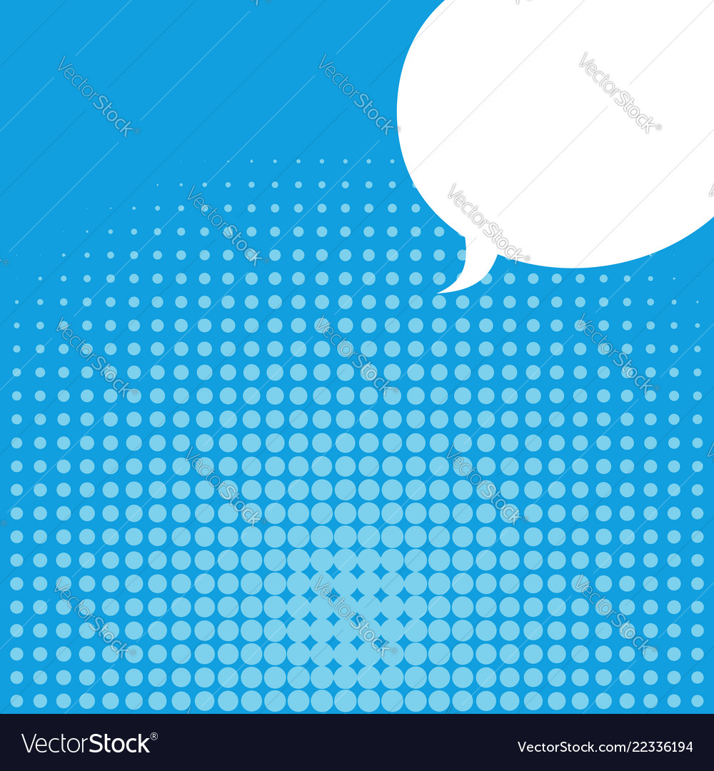 Pop art background and comic bubble place for text