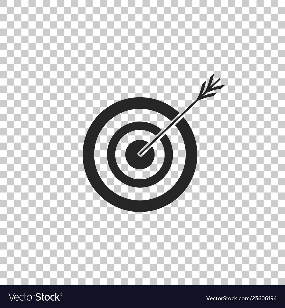 Target With Arrow Icon On Transparent Background