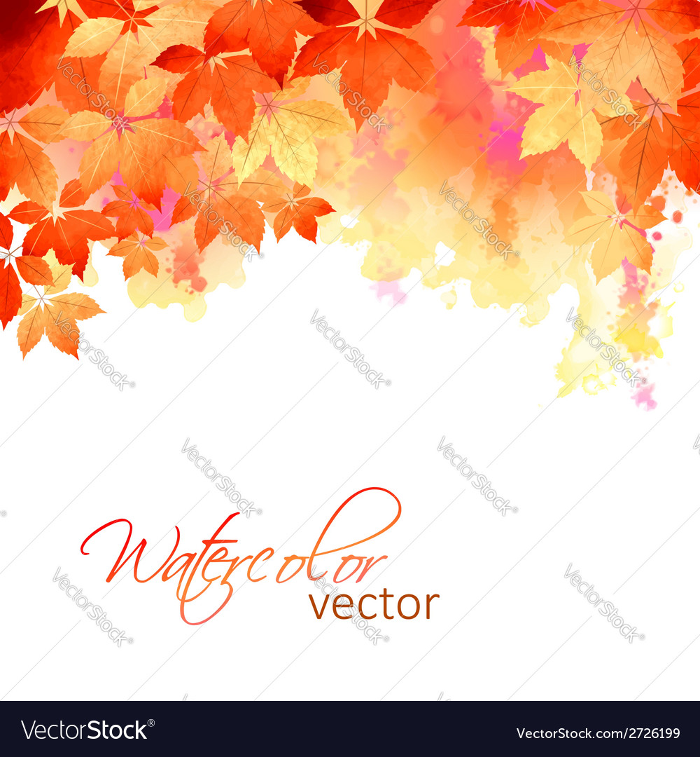 Autumn Watercolor Fall Leaves