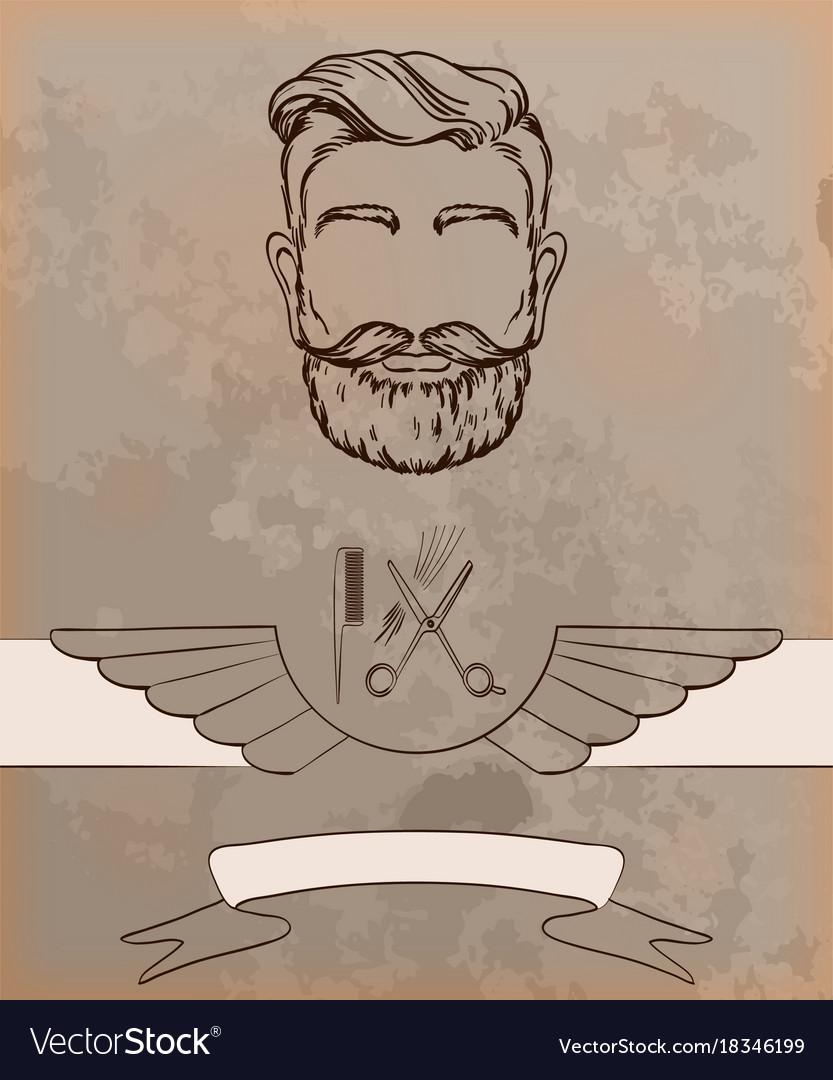Barber shop vintage background