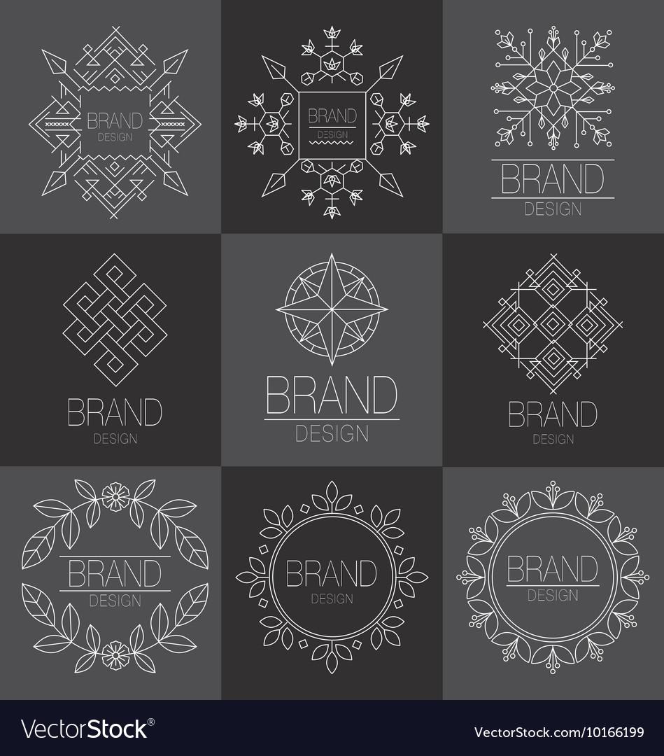 BRAND DESIGN ELEMENT FOR BUSINESS vector image
