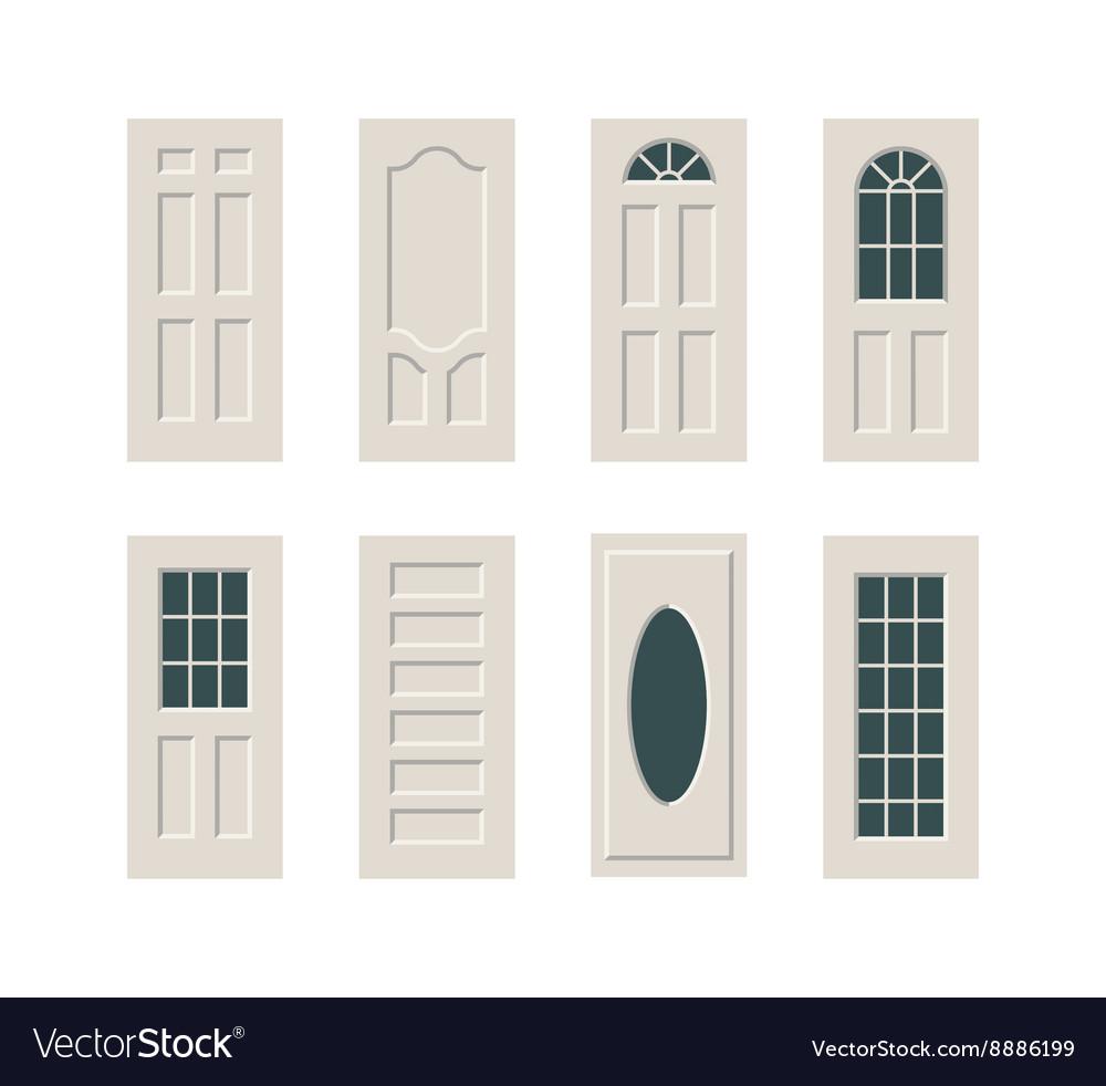 Doors set vector image